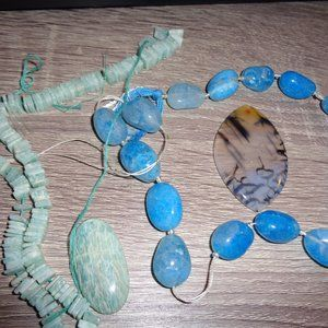 Jewelry making supply mixed goodies large gem pend
